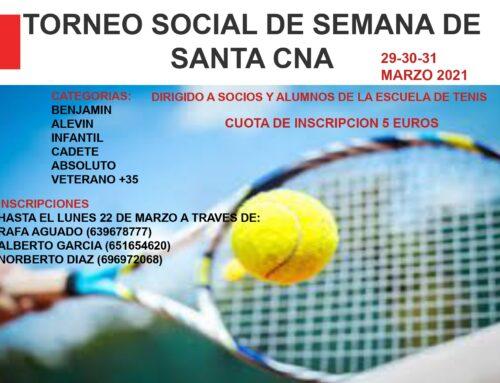 CUADROS TORNEO SOCIAL DE TENIS SEMANA SANTA